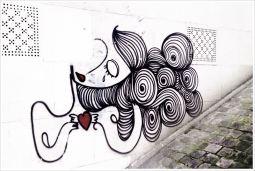 Street art in Montmartre, Paris